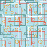 Abstract modern squares circles seamless pattern texture backgro Royalty Free Stock Photo