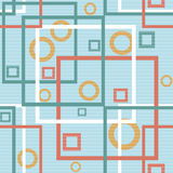 Abstract modern squares circles seamless pattern texture backgro Royalty Free Stock Images