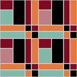 Abstract modern squares seamless pattern texture retro backgroun Stock Photos