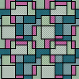 Abstract modern squares seamless pattern texture retro backgroun Stock Image