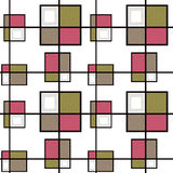 Abstract modern squares seamless pattern texture retro backgroun Royalty Free Stock Photography