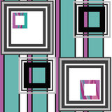 Abstract modern squares seamless pattern texture retro backgroun Royalty Free Stock Images