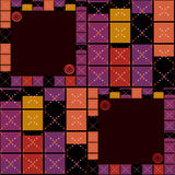 Abstract modern squares seamless pattern texture retro colors ba Royalty Free Stock Image