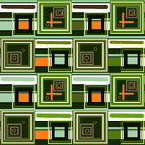 Abstract modern squares seamless pattern texture retro colors ba Stock Images