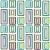 Abstract modern squares seamless pattern texture on retro colors Stock Images