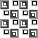 Abstract modern squares seamless pattern texture retro monochrom Stock Photo