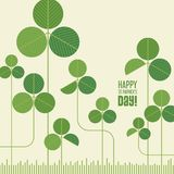 Abstract modern St. Patrick`s Day shamrock design Royalty Free Stock Photo