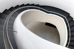 Abstract modern stairs. In black and white style Royalty Free Stock Photo