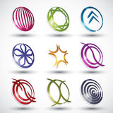 Abstract modern style icons 2. Royalty Free Stock Photos