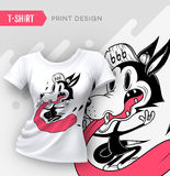 Abstract modern t-shirt print design. Stock Photo