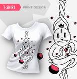 Abstract modern t-shirt print design. Stock Photos