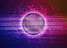 Abstract Modern technology circles background. Royalty Free Stock Image