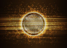 Abstract Modern technology circles background. Stock Images