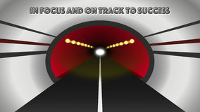 Abstract Modern Tunnel Leading To Success Stock Images