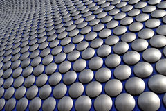 Abstract modern wall in Birmingham city center Royalty Free Stock Photo