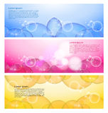 Abstract modern website banner Stock Photos