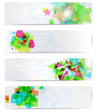 Abstract Modern Website Banner Set. Stock Image