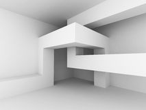 Abstract Modern White Architecture Background Royalty Free Stock Images