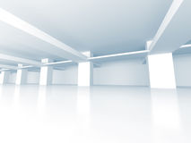 Abstract Modern White Architecture Background. 3d Render Illustration Royalty Free Stock Photo