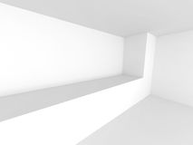 Abstract Modern White Architecture Background. 3d Render Illustration Royalty Free Stock Image