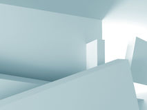 Abstract Modern White Architecture Background Stock Photo