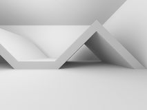 Abstract Modern White Architecture Background. 3d Render Illustration Stock Illustration