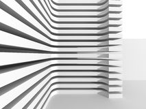 Abstract Modern White Architecture Background. 3d Render Illustration Royalty Free Stock Photography