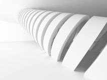 Abstract Modern White Architecture Background. 3d Render Illustration Royalty Free Stock Photos