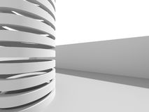 Abstract Modern White Architecture Background. 3d Render Illustration Royalty Free Illustration