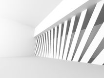 Abstract Modern White Architecture Background. 3d Render Illustration Stock Image