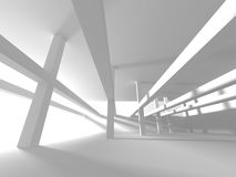 Abstract Modern White Architecture Background Royalty Free Stock Photos