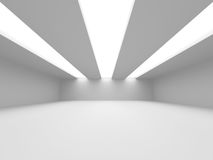 Abstract Modern White Architecture Background Stock Images