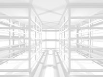 Abstract Modern White Architecture Background. 3d Render Illustration Stock Images