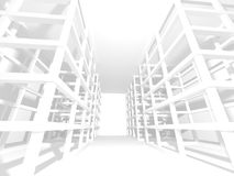 Abstract Modern White Architecture Background. 3d Render Illustration Stock Photos