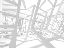 Abstract Modern White Architecture Background. 3d Render Illustration Royalty Free Stock Images