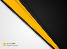 Abstract of modern yellow black and white background. vector illustration