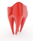 Abstract molar. Made on new technologies Stock Photos