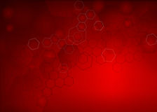 Abstract molecular llustration Background. Abstract high resolution molecular illustration of red faded hexagonal/geometric layered design background perfect for Stock Image