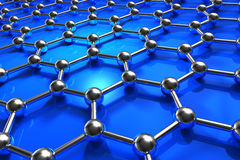 Abstract molecular nanostructure model. Abstract blue molecular nanostructure model Royalty Free Stock Photography