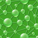 Abstract molecular structure seamless vector pattern. Stock Photos
