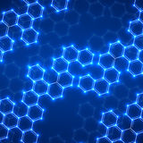 Abstract molecular structures Stock Image