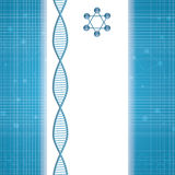 Abstract molecule blue background Stock Image