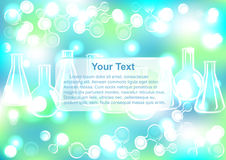 Abstract molecule end test tubes background Royalty Free Stock Photo