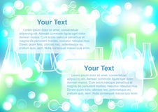 Abstract molecule end test tubes background Royalty Free Stock Images