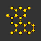 Abstract Molecule Icon on Dark Background. Vector Stock Image