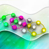 Abstract molecule icon set Royalty Free Stock Images