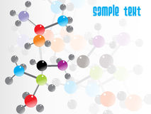Abstract molecule illustration Stock Photos