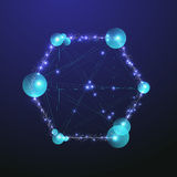 Abstract molecule . Science concept . Stock Images