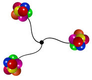 Abstract molecules Stock Images