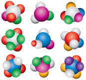 Abstract molecules Royalty Free Stock Images